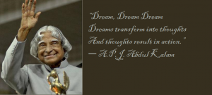 Dr APJ Abdul Kalam Quotes on Dreams