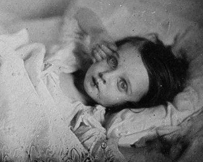 Dead girl staring.